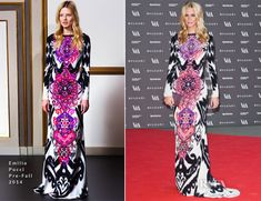 Poppy Delevingne In Emilio Pucci – The Glamour of Italian Fashion Exhibition Preview