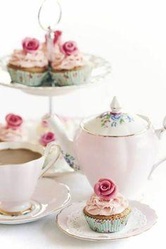 Charming tea and cupcakes...always a good idea...