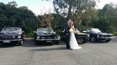 Mustangs in Black Convertible Ford Mustang fleet out for Bec and Ryan's wedding at Ashton Manor in Melbourne, including our 1966 and 1967 GTs and our Shelby GT350.