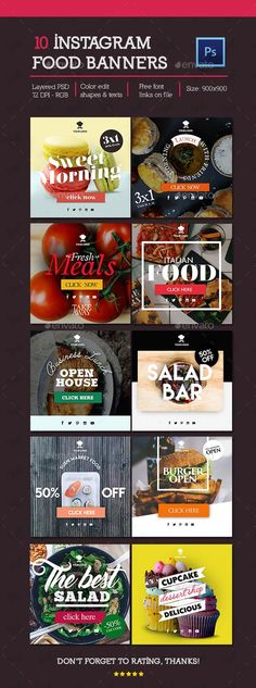 Pin by Bashooka Web & Graphic Design on Banner Templates Social Media Ad, Social Media Banner, Social Media Design, Social Media Graphics, Web Design, Food Design, Design Ideas, Site Design, Food Banner