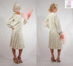 Long Sleeve Vintage Flapper Dress by TheLoveBucketSA on Etsy, $70.00