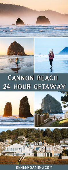 An Incredible 24 hour Getaway to Cannon Beach, Oregon, Take an incredible 24 hour getaway to stunning Cannon Beach on the Oregon Coast. Explore Haystack Rock and photograph sunrise and sunset along the Bea. Oregon Usa, Oregon Coast, Oregon Ducks, Medford Oregon, Salem Oregon, Portland Oregon, Oregon Road Trip, Oregon Travel, Travel Usa