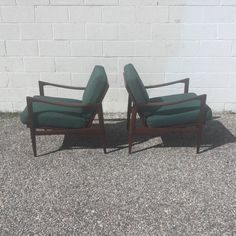 "1960s Pair of Teak ""Candidate"" Lounge Chairs by Ib Kofed Larsen for Selig 3"