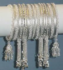Beautiful silver bracelets.