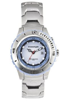 Freestyle Women's FS81215 The submersion Bracelet Watch Freestyle. $91.00. Case diameter: 37.3 mm. Stainless-steel case; Blue dial; Date function. Mineral crystal. Quartz movement. Water-resistant to 660 feet (200 M)