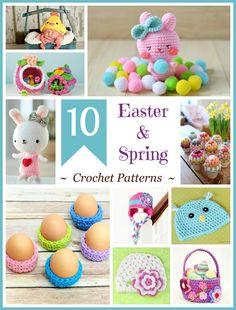 10 Free Easter & Spring Crochet Patterns via Hopeful Honey