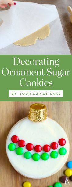 Get the step-by-step for these ornament sugar cookies, and 50 more of these amazing Christmas cookies. #christmascookies #holiday #christmas #sugarcookies #christmasdesserts