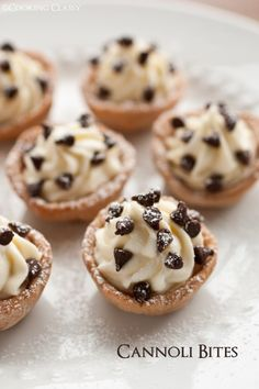 cannoli bites - these are amazing! cannoli dough is baked in mini muffin tins then filled with a lucious mascarpone/ricotta cannoli filling. SO good!