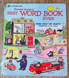 I loved these books when I was little -Vintage Richard Scarry's Best Word Book Ever 1963 1st Edition