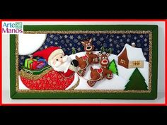 Patchwork without needle Santa Claus and his Sleigh Big Girl Quotes, Christmas Bulletin Boards, Christmas Crafts, Christmas Ornaments, Christmas Embroidery, Stained Glass Patterns, Diy And Crafts, Creations, Elsa