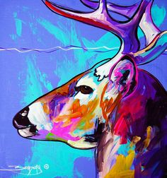 Beautiful Buck Painting