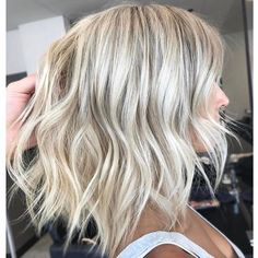 Image result for brown lowlights in platinum blonde hair