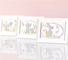 Project Center - Anna Griffin: Framed Baby Animal Nursery Prints