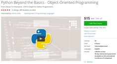 Python Beyond the Basics - Object-Oriented Programming http://ift.tt/1MsPXb7  #udemy #coupon #discount