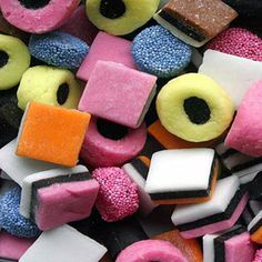 'Liquorice allsorts' consist of a variety of liquorice sold as a mixture.These confections are made of liquorice, sugar,coconut,aniseed jelly,fruit flavourings,& gelatine.They were first produced in Sheffield, England, by Geo. Bassett & Co Ltd and today are owned by Cadbury's.In 1899,a sales representative,dropped a tray of samples he was showing a client, mixing up the various sweets. He scrambled to re-arrange them,& the client was intrigued by the new creation.Popular in many countries…