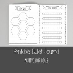 PRINTABLE BULLET JOURNAL ---------------------------------------- Love the way a bullet journal looks? But perhaps your dont have the time to