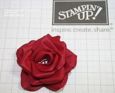 How to make Hand Made Roses from Card Stock Stamping Shanni: January 2013 - I love Shaneen's work