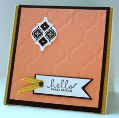 Stampin' Up! Supplies: Paper: Whisper White, Crisp Cantaloupe, Early Espresso cardstock, & Spice Cake DSP Stamps: Mosaic Madness, Six-Sided ...