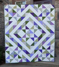 Stars Over Scott - Quilt Tutorial (Beautiful Skills - Crochet Knitting Quilting) Star Quilt Patterns, Star Quilts, Scrappy Quilts, Mini Quilts, Quilt Blocks, Bed Quilts, Star Blocks, Canvas Patterns, Charm Pack Quilts
