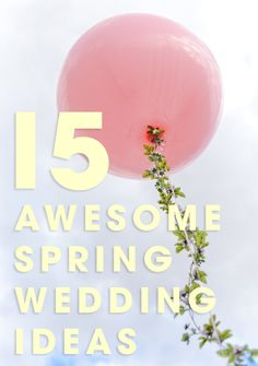 Jen from Something Turquoise is sharing her favorite 15 ideas to incorporate into your unique spring wedding. Some DIY and some that you can buy!