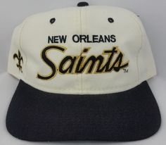 87420298b3f New Orleans Saints Vintage Snapback Sports Specialties Script NFL Hat  Starter New Orleans Saints