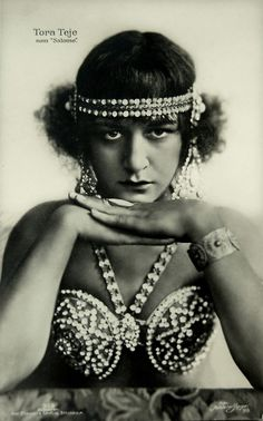 Tora Teje (1893-1970), Swedish stage and film actress, as Salome