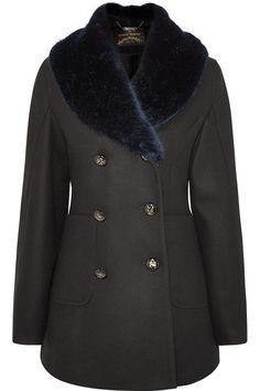 Vivienne Westwood AnglomaniaSoma faux fur-trimmed wool-blend coat