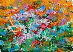 Mario Vespasiani: Senza titolo - 40x28,5 cm, acrilico su carta geografica, 2013