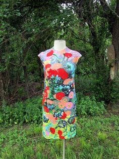 Jonny Jr Shift dress jacket  BIG Mod Floral red by Holliezhobbiez, $24.99