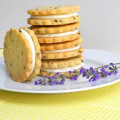 From Calculu∫ to Cupcake∫ | Lemon Filled Lavender Shortbread Cookies | http://www.fromcalculustocupcakes.com