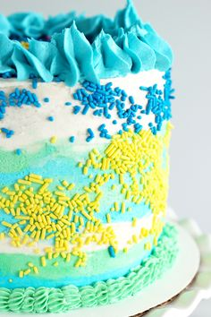 vegan vanilla birthday cake with buttercream frosting
