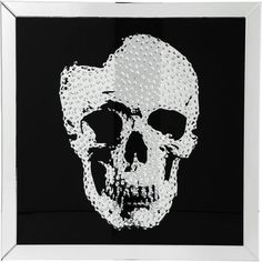 The black and silver Coaster Furniture Jeweled Skull Mirrored Wall Art is an excellent pick for pop art fans. The skull design is embellished with rhinestones. Silver Wall Mirror, Mirror Wall Art, Round Wall Mirror, Wall Mounted Mirror, Black Mirror, Mirrors, Mirror Mirror, Silver Picture Frames, Skull Pictures