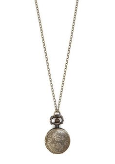 Today's Timeline Necklace in Bronze - Gold, Solid, Steampunk, Gold, Better, Vintage Inspired, 20s, Top Rated