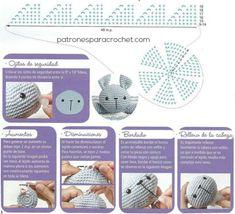 Cómo bordar la cara del conejo amigurumi Crochet Teddy Bear Pattern, Crochet Lovey, Crochet Patterns Amigurumi, Crochet Blanket Patterns, Baby Blanket Crochet, Crochet Toys, Diy Crafts Knitting, Diy Crafts Crochet, Knitting For Kids