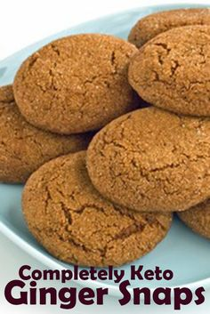 HARLAN KILSTEIN'S COMPLETELY KETO GINGER SNAPS - Special Cake and Cooking Keto Cookies, Cookies Et Biscuits, Diabetic Cookies, Chip Cookies, Sugar Cookies, Desserts Keto, Keto Snacks, Dessert Recipes, Recipes Dinner