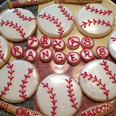 Texas rangers baseball cookies