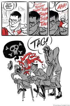Tf2 Comics, Tf2 Scout, Tf2 Funny, Team Fortress 2 Medic, Tf2 Memes, Team Fortess 2, Anime Fnaf, Cartoon Styles, Art Studies