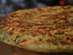 Tortilla de calabacín. Una receta sencilla y riquísima.