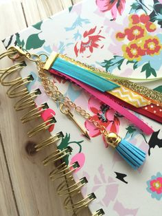 RIBBON PLANNER TASSEL - Gold Planner Accessories - Planner Charms - Bag Charms - Phone Charms - Tassel Charms - Ribbon Charms by simbiosisbyjulia on Etsy https://www.etsy.com/listing/276778492/gold-planner-accessories-planner-charms