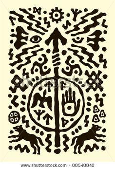 Viking Shaman | Ethnic Tribal Native Prehistoric Viking Spear Symbol Stock Vector ...