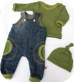 Klimperklein - Strampelhose + Mutze , Farbenmix - Shirt Zwergenverpackung #babyclothesdiy