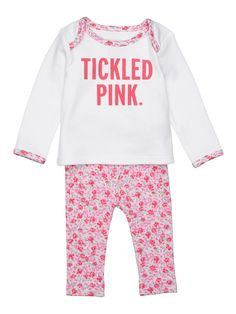 Kate Spade Baby Girl TICKLED PINK T-Shirt And Skirt Outfit Size 12 Months NWT