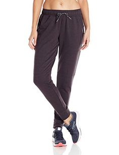 Speedo Womens Female Jogger Pant black Heather Small *** Want to know more, click on the image.