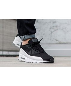 Nike Air Max 90 Ultra Moire Bright Black And White Shoes Sale 939c2fe12