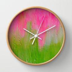 Watermelon Sunrise Wall Clock by Morgan Ralston - $30.00