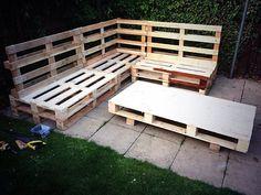 Wood pallet garden furniture.