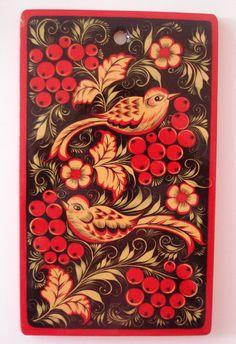 Peinture de Khokhloma Style sur cuisine décorative en bois coupe Conseil…