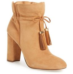 'taedin' tassel bootie by Louise et Cie. Dual tassels add eye-catching movement and Western influence to a versatile, casually chic block-heel bootie.  #louiseetcie #shoes #boots