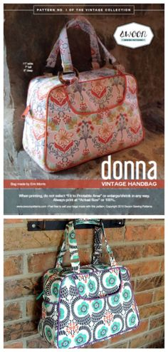 With this beautiful vintage pattern from Swoon you can make yourself a small 60's inspired handbag.