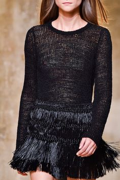 Isabel Marant SS15 Details | Sweater and Skirt